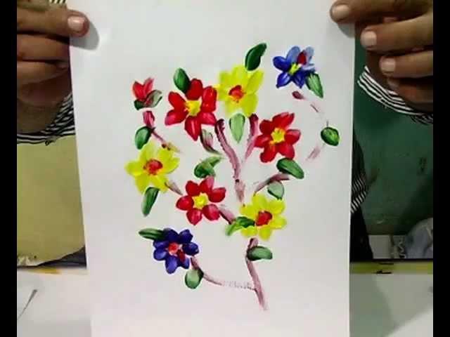 Finger Painting Teknik Mencolek Satu Jari Bunga Youtube