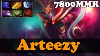 Dota 2 - Arteezy 7800 MMR Plays Spectre vol 3 - Ranked Match Gameplay