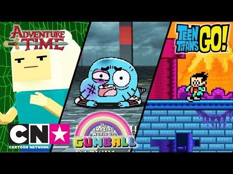 Haideți, tineri titani! + Să-nceapă aventura + Gumball | Jocuri video | Cartoon Network