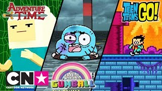 Haideti, tineri titani! Sa-nceapa aventura Gumball Jocuri video Cartoon Network