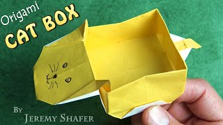 "Origami Cat Box that Floats!... ""It's raining Cats and Dogs!"""