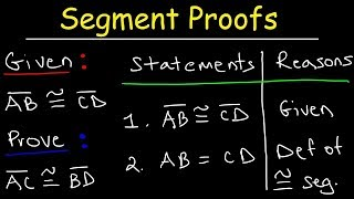 Two Column Proofs of Congruent Segments   Midpoints, Substitution, Division & Addition Property