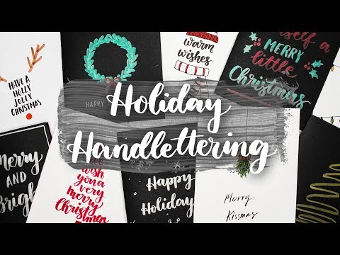 Holiday Hand Lettering | 10 Handmade Holiday Card Ideas!