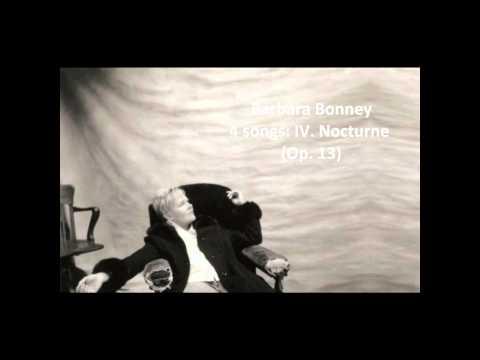 "Barbara Bonney: The complete ""4 songs Op. 13"" (Barber)"