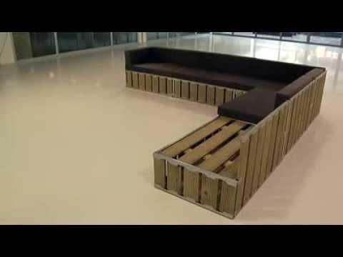 Muebles modulares de exterior - YouTube