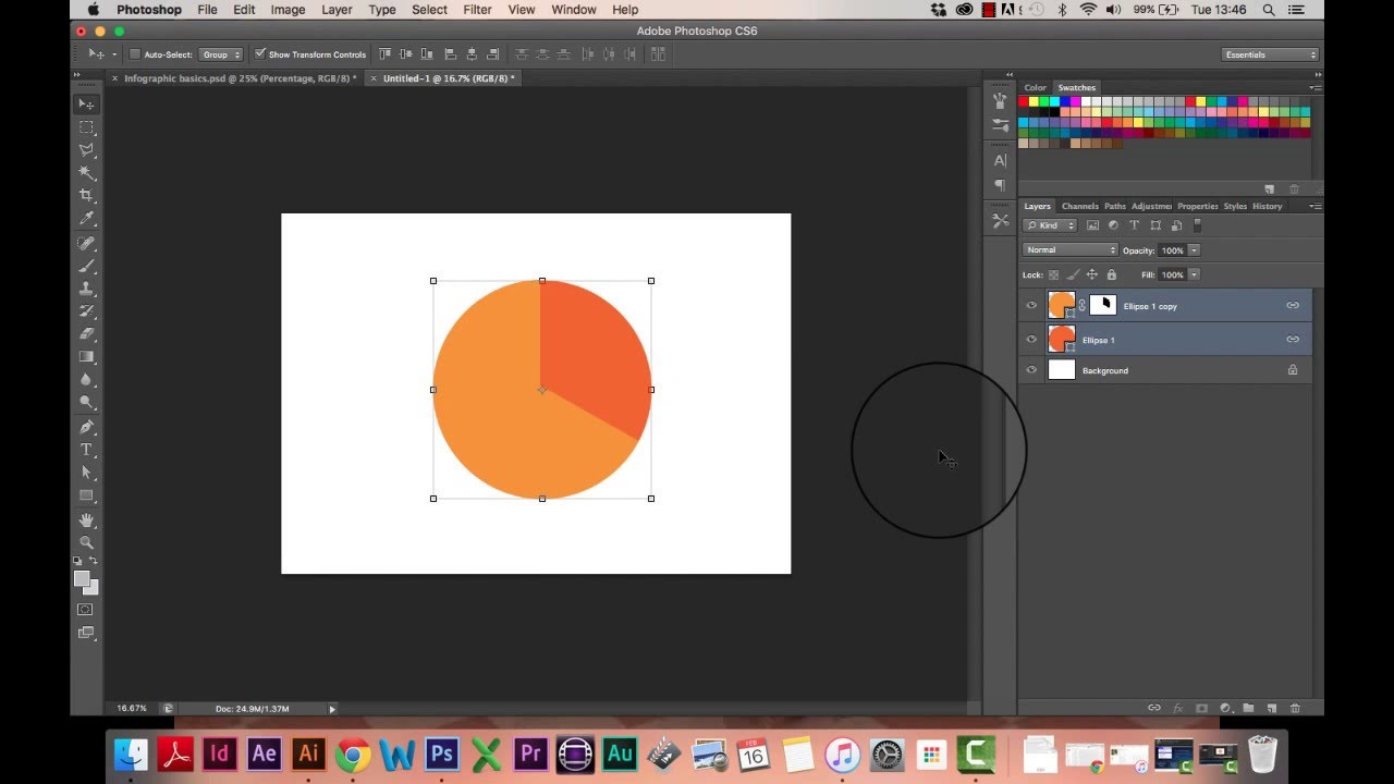 Infographic tutorial part 1 how to draw a pie chart in photoshop infographic tutorial part 1 how to draw a pie chart in photoshop youtube ccuart Image collections