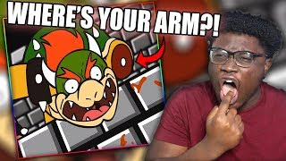 MARIO DEFEATS BOWSER FOR GOOD! | Bowser's revenge (Mario Maker parody) Reaction!