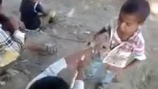Real Desi Village little Two Boy Fight With Gali