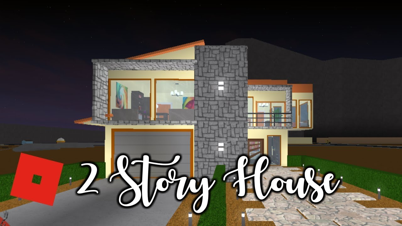 Welcome To Bloxburg 2 Story House Speed Build Youtube