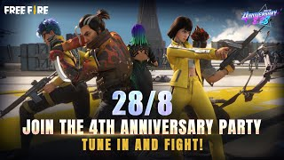 Kelly, Hayato, Moco, and Others Celebrate #4nniversary! | Garena Free Fire screenshot 4