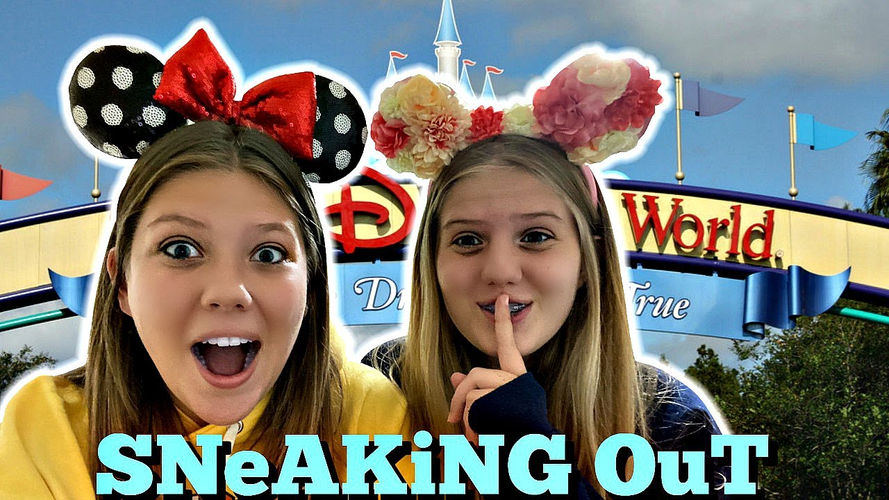SNEAKiNG Out and going to DiSNEY WORLD!!!   Running Away to Disney 😆🎡   Taylor & Vanessa