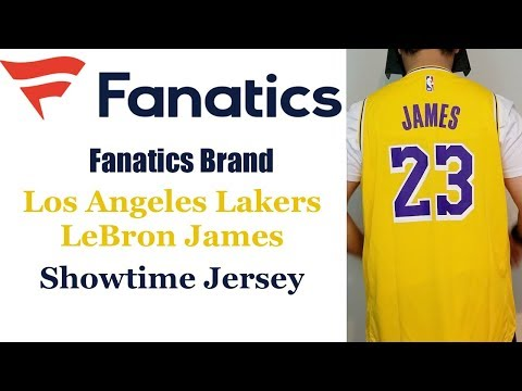 huge selection of 460de b4bf1 Fanatics Los Angeles Lakers Lebron James Showtime Jersey ...