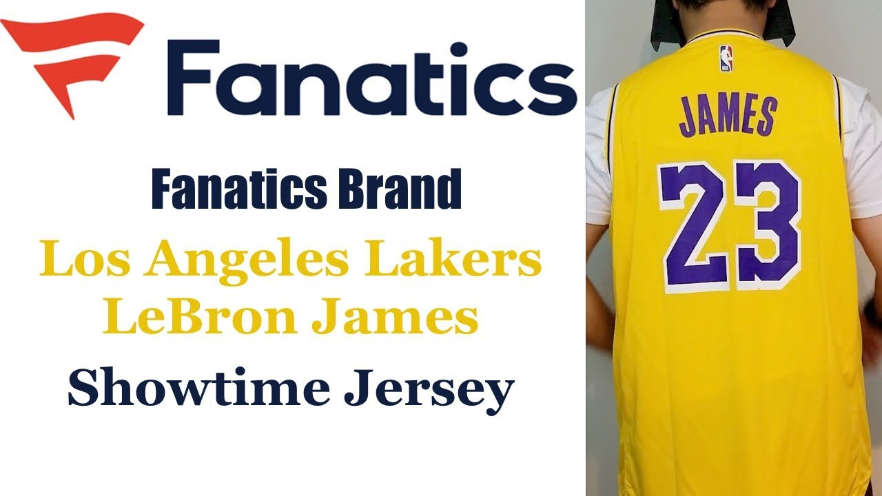 brand new 07913 5e319 Fanatics Los Angeles Lakers Lebron James Showtime Jersey Review