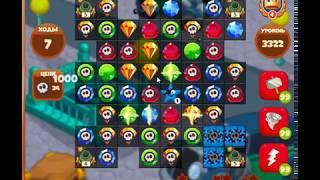 3322 уровень в игре Сокровища Пиратов