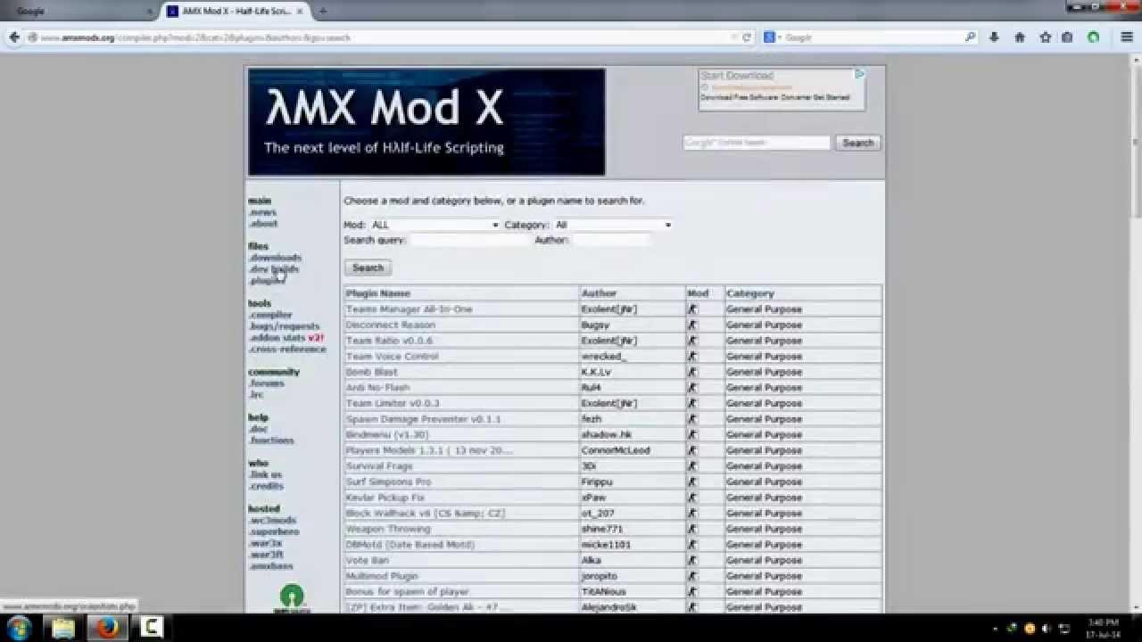 counter-strike 1 6] List of some imp  plugins [AMXX