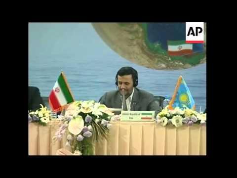 WRAP Caspian Sea summit, Putin, Ahmadinejad presser, bilat meeting