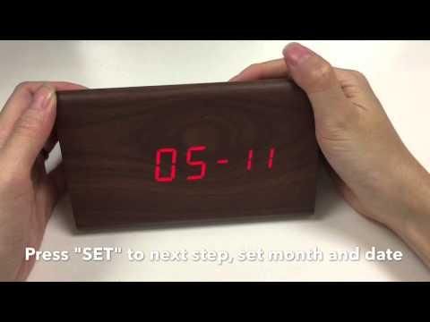 JCC Wood Grain LED Digital Alarm clock Unboxing and review - 6035b