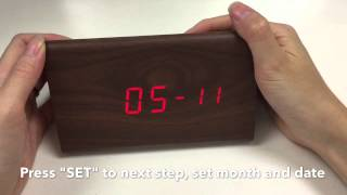 Jcc Wood Grain Led Digital Alarm Clock Unboxing And Review - 6035b