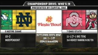 Notre Dame vs Ohio State in Fiesta Bowl 2016