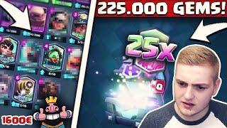 225.000 GEMS! | SO VIELE LEGENDARY CARDS FÜR 1600€! | LOHNT SICH DAS?! | Clash Royale Deutsch
