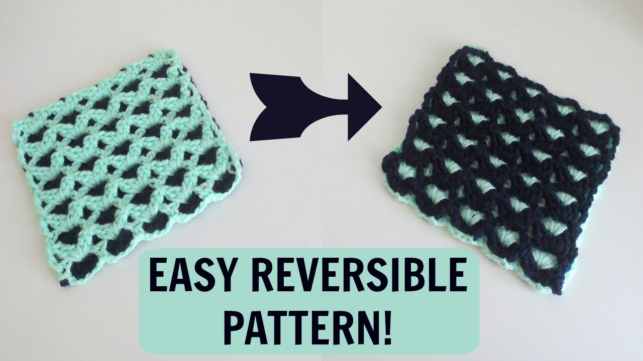 Crochet Afghan Patterns Youtube : Reversible Crochet Pattern - YouTube
