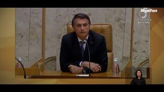 Bolsonaro vai ao STF para acompanhar último dia de Dias Toffoli na chefia do STF