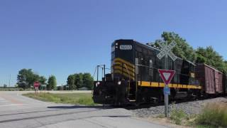 gp16 locomotive on rickety rail nd railroad