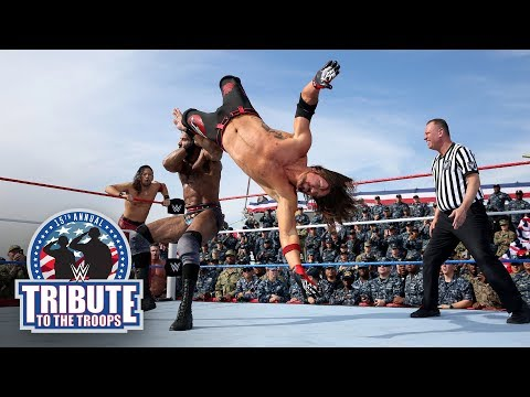 AJ Styles, Orton & Nakamura vs. Jinder Mahal, Kevin Owens & Sami Zayn: Tribute to the Troops 2017