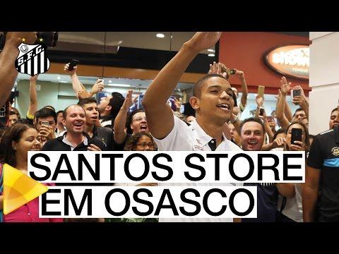David Braz inaugura Santos Store em Osasco