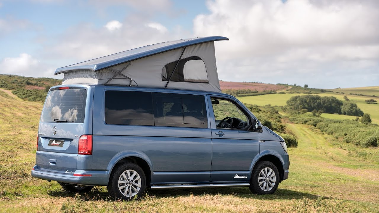 VW T6 Campervan - Acapulco Blue Ashton with Tasamo Fabric ...