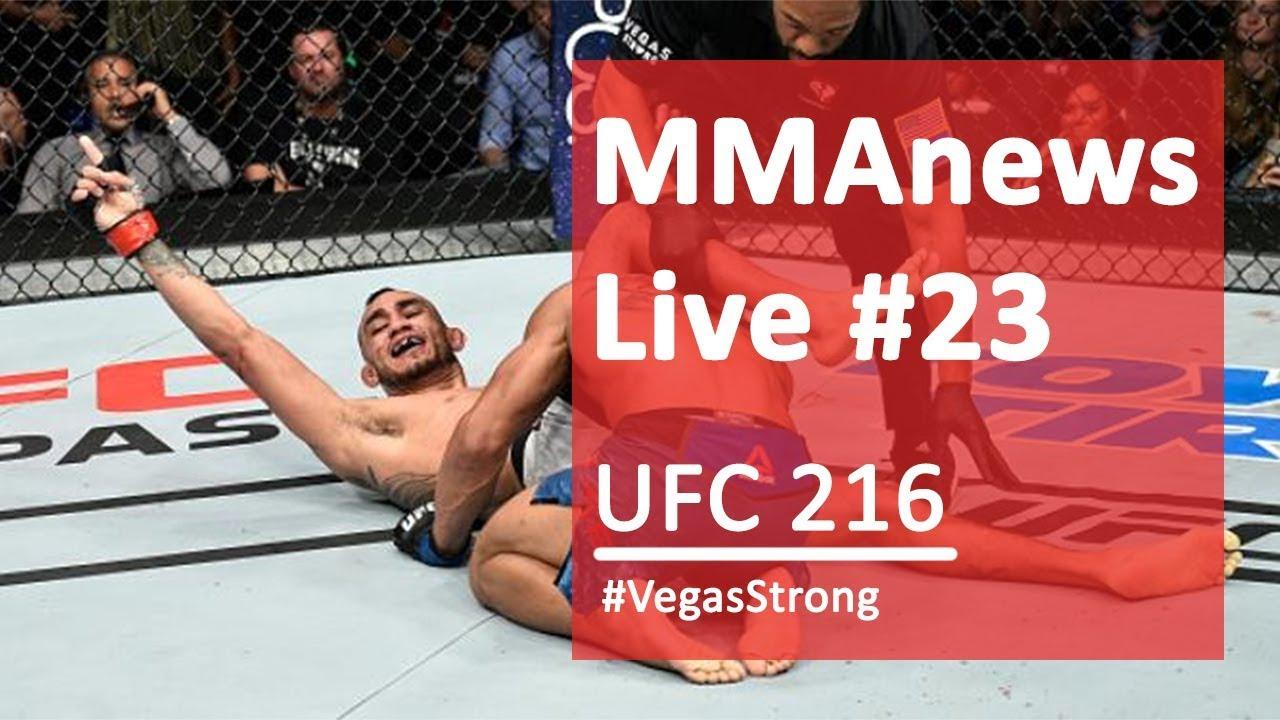 MMAnews Live #23 – Podsumowanie UFC 216 na żywo o 21:00
