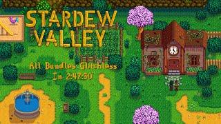 Stardew Valley Speedrun   Community Center% Glitchless in 2:47:50