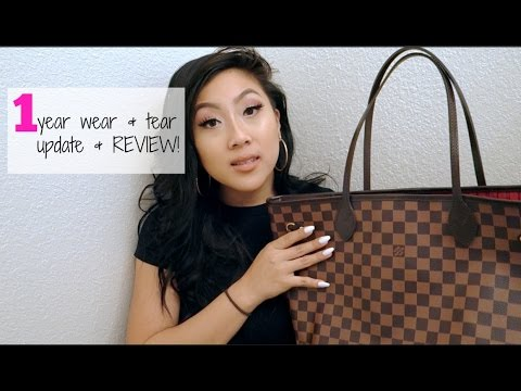 LOUIS VUITTON NEVERFULL MM | 1 YEAR UPDATE & REVIEW!