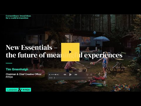 Extraordinary Webinar - New Essentials – the future of meaningful experiences
