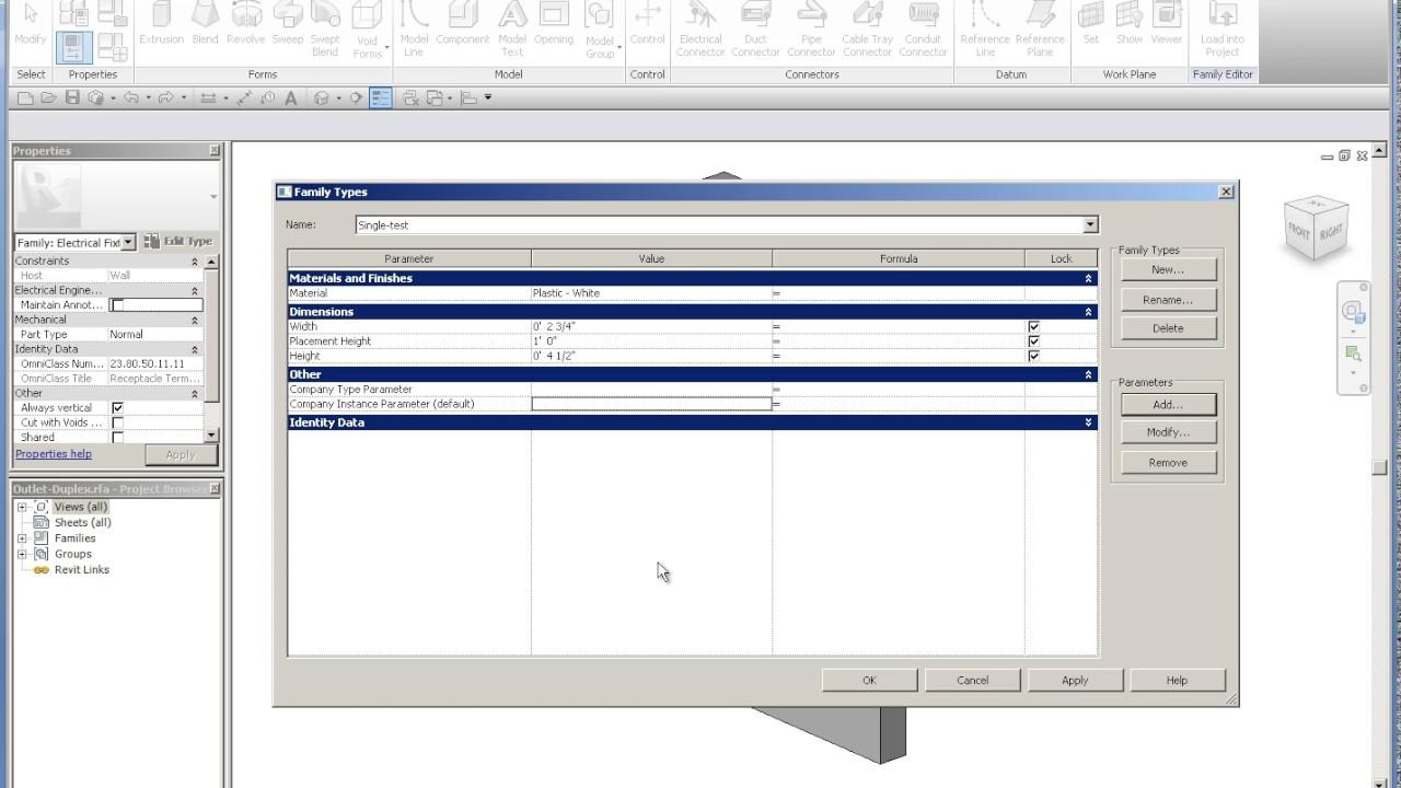 Pt 3 Revit Mep Family With Custom Parameters Copied