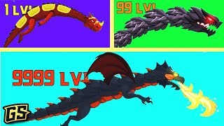 DRAGON TO BLACK DRAGON EVOLUTION // How To Defeat All Bosses in Dragon Hills!! screenshot 2