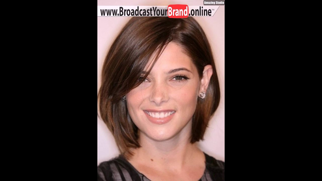 Medium Haircuts For Round Faces 2016 Youtube
