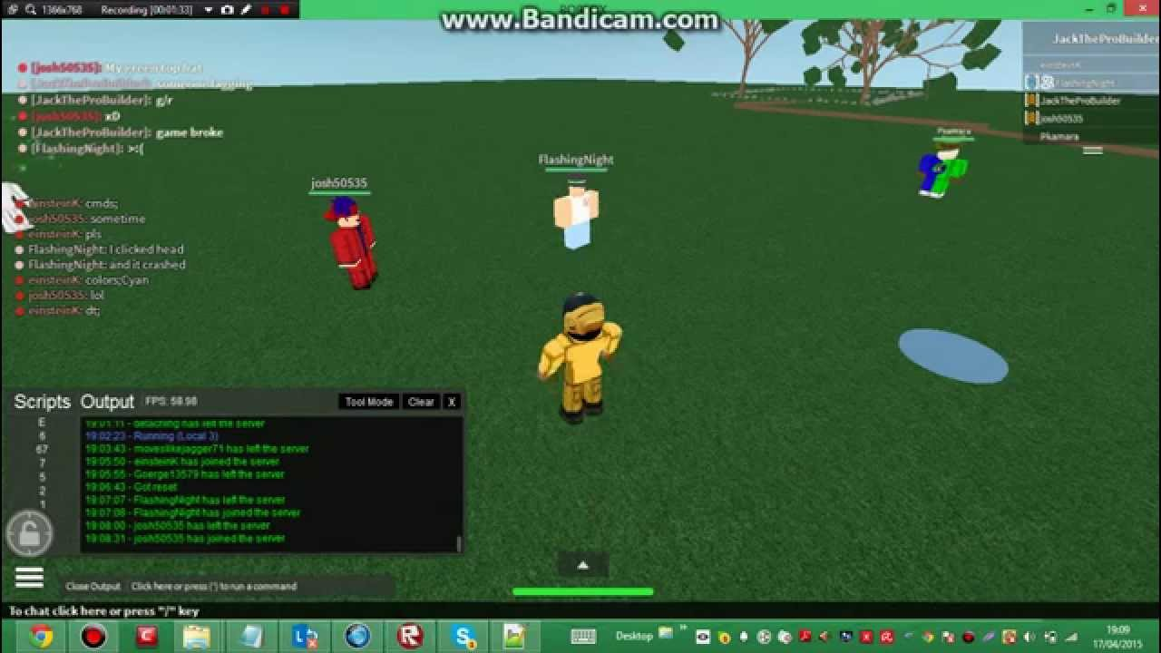 how to run scripts in roblox games