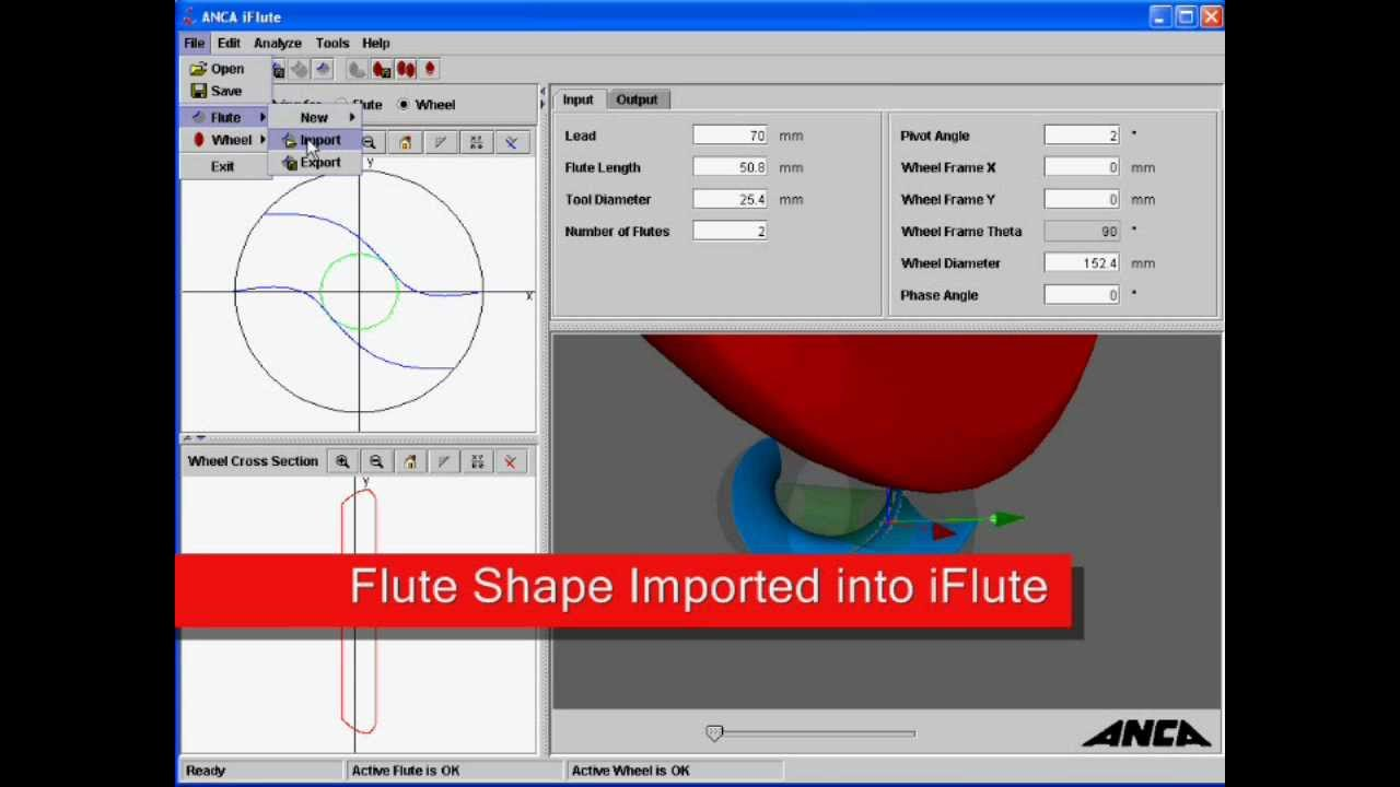 Anca iflute flute design software for tool grinding for Application design tools