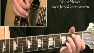 How To Play Willie Nelson On The Road Again - intro only
