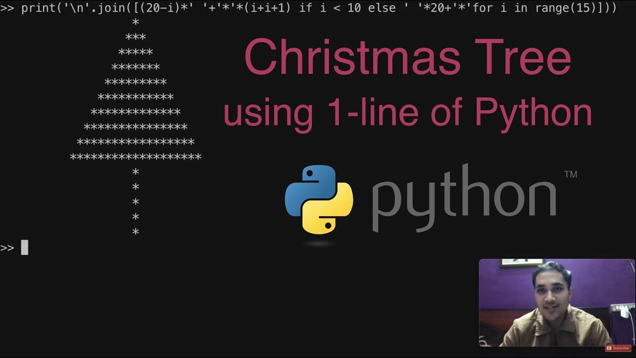 🎄 Christmas Tree using 1 Line of Python | Merry Christmas 😁