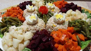 سلطة راقية سهلة ورائعة للضيوف و المناسبات بمكونات اقتصادية  Salade fraîche