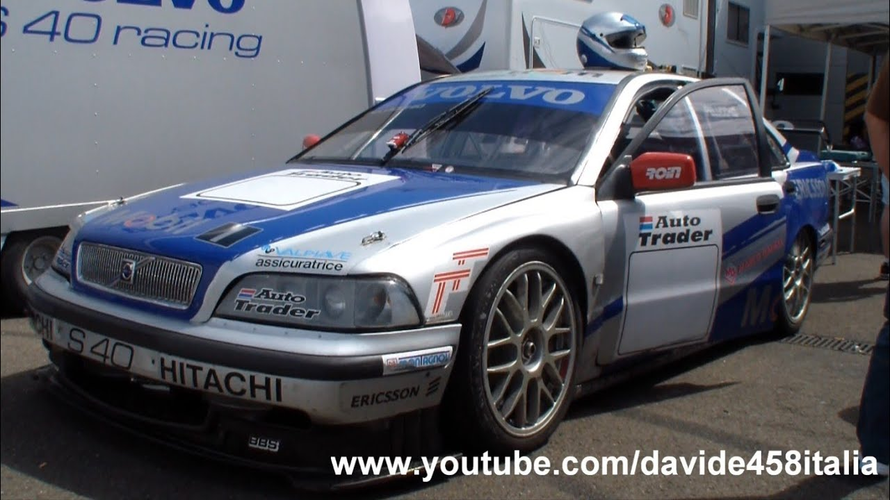 EPIC! Volvo S40 Racing BTCC on the track: pure sound! - YouTube