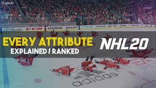 what does each ATTRIBUTE do? Ranking each stat! NHL 20