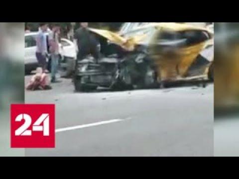 Страшное ДТП на Кутузовском: детей из искореженной машины доставали спасатели - Россия 24