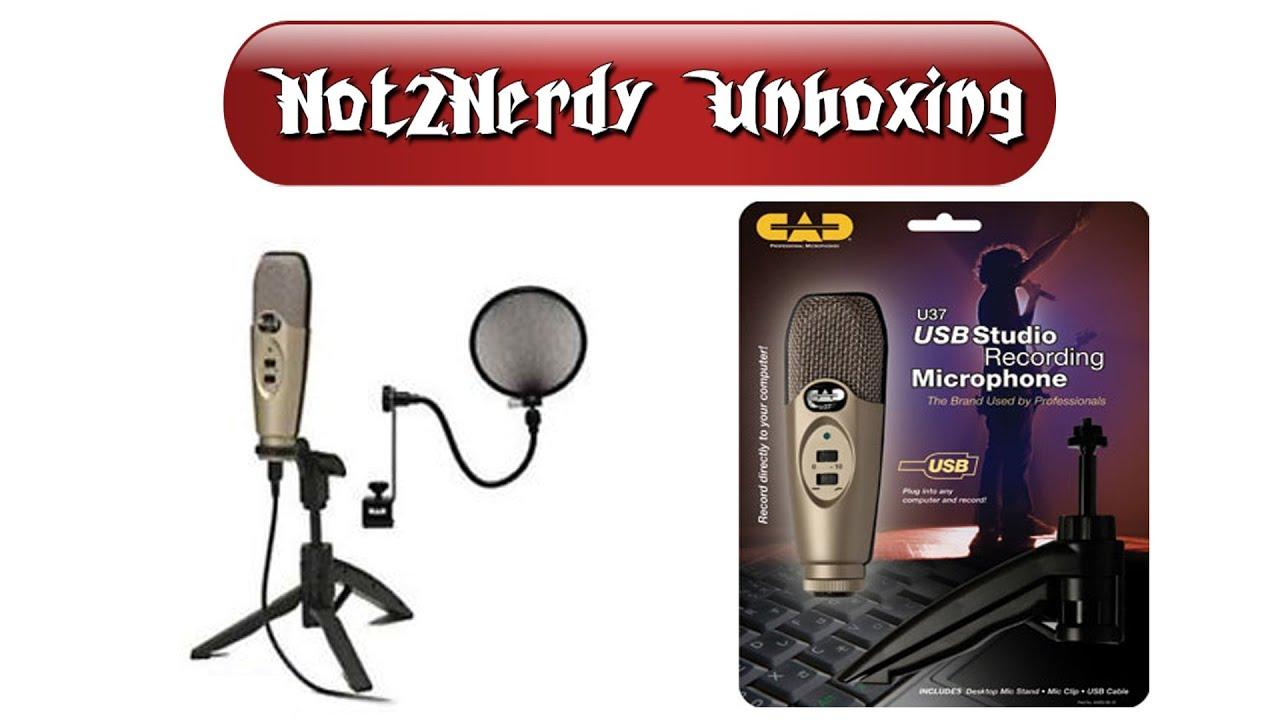 unboxing cad u37 usb studio condenser recording microphone youtube. Black Bedroom Furniture Sets. Home Design Ideas