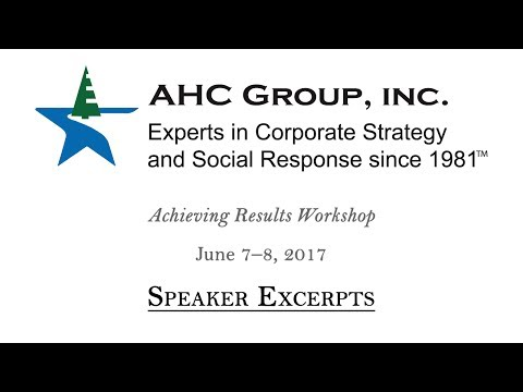 AHC Group June 2017 Workshop Highlights