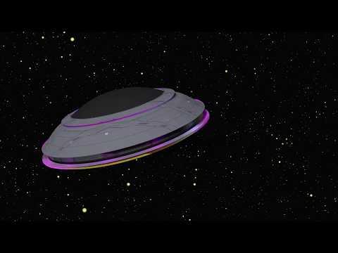 Футаж НЛО Хромакей Зелёный фон Летающая тарелка Анимация НЛО