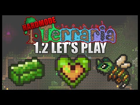 Chlorophyte Mining! Hardmode Jungle! || Let's Play Terraria 1.2 HARDMODE [Episode 32]