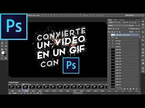 CONVIERTE UN VIDEO EN UN GIF | Photoshop CC | Tutorial #25 | Español
